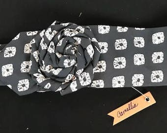 Hand sewn headband made from a repurposed