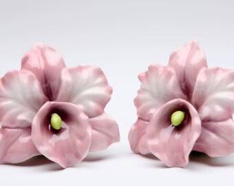 Orchid Salt and Pepper Shaker Set - Pink