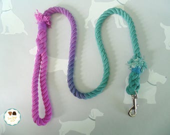 Pink/Emerald Green Ombré Rope Dog Lead / Rope Dog Leash / 4ft Rope Dog Lead / 12mm / Rope Lead / Rope Leash / Pet Supplies