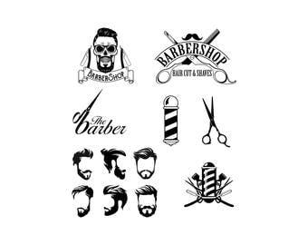 Barber svg Barber shop svg Hairdresser Svg Hair Salon Svg Hairstylist Svg Hairdresser logo svg Cut Files Silhouette Studio Cricut dxf eps