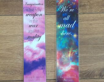 Laminated Bookmarks Lewis Carroll Alice in Wonderland