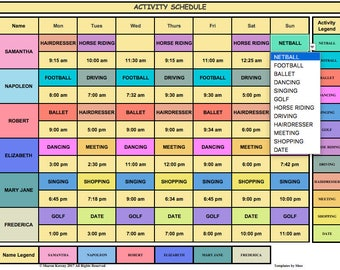 timetable excel