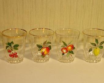 Vintage shot glass set of 6
