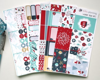 Winter Blue - Classic Happy Planner Weekly Kit