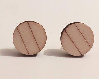 Spotless, wooden cufflinks
