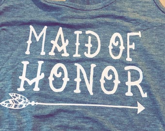 Maid of honor, MOH, Matron of honor, Bride tribe customized shirt!