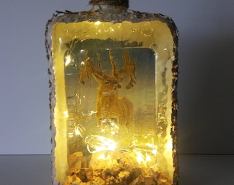 Majestic Deer LED Bottle Light