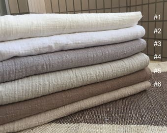 Soft Cotton Linen Blend Wrinkled Gauze Fabric Sold by 1/2 Yard