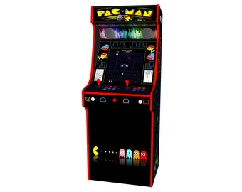 PacMan Theme Classic Upright Arcade Machine with 645 Games