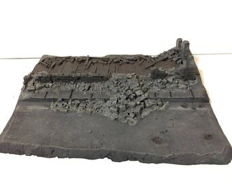 "28mm Urban terrain piece (8.5""x11"")"