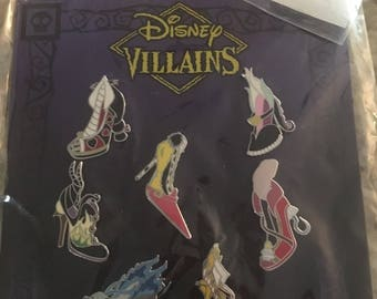 Disney Villains High Heel Shoes Pin set