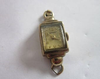 Antique 14 K Gold Filled Hamilton Ladies Wrist Watch  17 Jewel