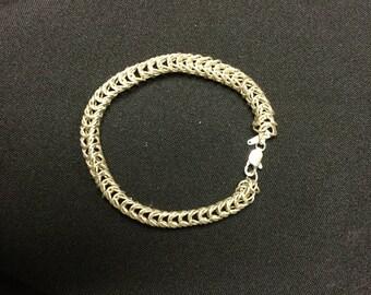 Sterling Silver Bracelet in Foxtail pattern