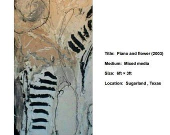 Piano and flower (2003)---original print on canvas