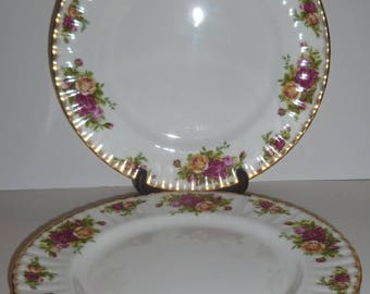 Royal Albert China (England) Old Country Roses Lot of Four (4) Dinner Plates - NEVER USED