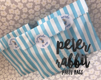 Peter Rabbit party/favour bags for children-Personalised-Set of 15