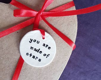 Personal Gift Tag Ceramic Special Present Birthday Wedding Unique, Personal Message, Luxury tag, Gift Packaging Christmas Valentines Day