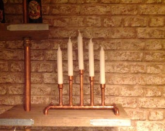 Industrial styling candlestick holder