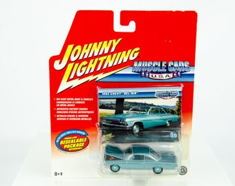 Johnny Lightning Muscle Cars USA Real Wheel Series 1962 Chevy Bel Air #38 1/64