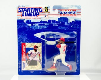 Starting Lineup Baseball 1997 Series Deion Sanders Action Figure Cincinnati Reds