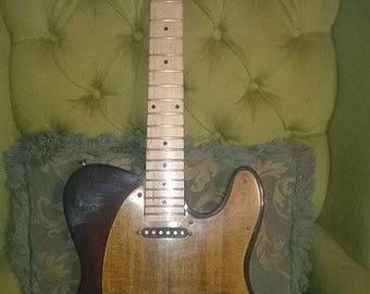 custom hand made telecaster guitar