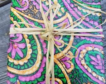 Tile Coaster Set  - Paisley