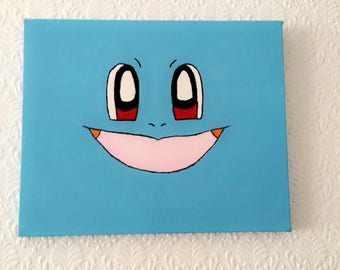Pokémon Pikachu or Squirtle Hand Painted Canvas