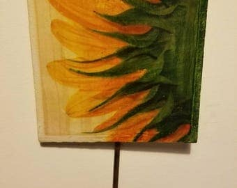 Jessica's Sunflower, Jewelry, scarf, key hook, wall art, hook, decor, sunflower, handmade, handmade gifts, flower, sunflower, nature, gift