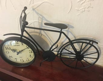 Antique or Vintage Style Victorian Model Bicycle With Modern Battery Clock