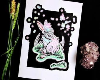 Starlit Runner - Greeting Card
