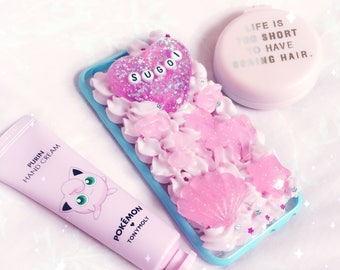 Iphone 6S | Sugoi Pastel Pink And Blue Decoden Kawaii Cabochon Case