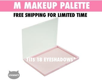 Makeup Palette M Pink - Magnetic - Fits 18 Eyeshadows*