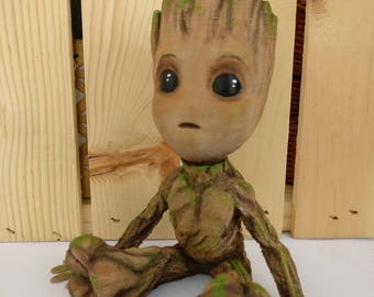 Baby Groot, 3D Printing, Guardians of the Galaxy, Groot Sculpture, Collectable, Groot Figure, Hand Painted Groot, Cosplay Groot Prop