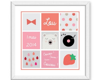 Customizable baby model Lou poster