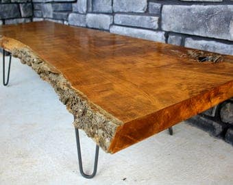 Live Edge Table Coffee Custom Made Furniture Wood