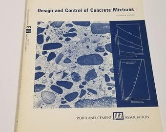 Design And Control Of Concrete Mixture 11th Edition Engineering Bulletin (1968)