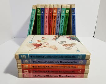 The Young Childrens Enyclopedia Set 16 Volumes Books Homeschool Brittanica 1970