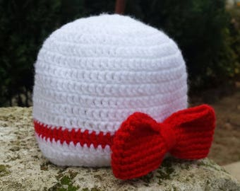 Hat with Ribbon knitting