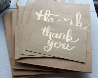 Set of 5 Thank You Cards and Envelopes
