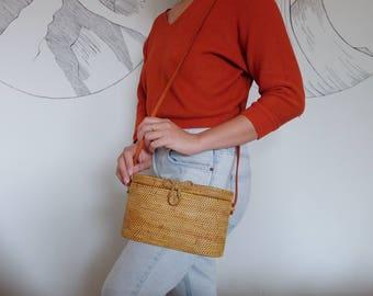 Oblong Medium - Rattan Bag | Ata Bag | Bohemian Bag | Bali Bag | Summer Bag