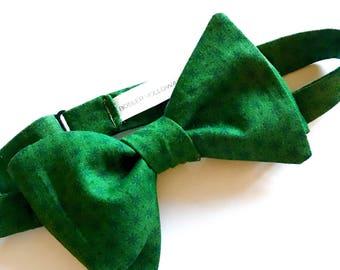 Green, Adjustable, Self-Tie Bow Tie