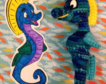 Amigurumi Crochet Seahorse