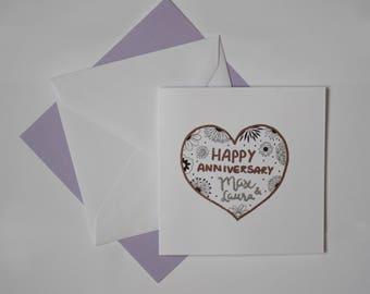 Anniversary Card - Custom Names