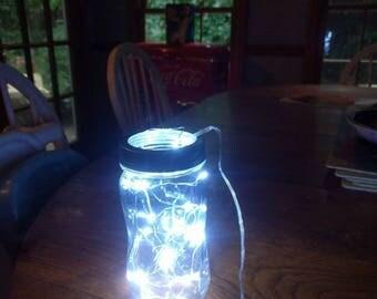 A Jar with lights