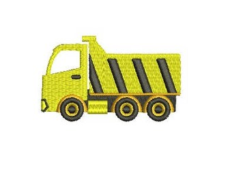Dump Truck Construction Trucks Design Embroidery Fill Machine Instant Download Digital File EN2068F2