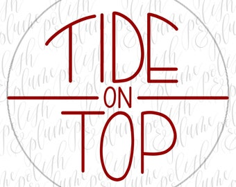 "2 Designs | Alabama Crimson Tide Tide on Top 3"" Game Day Buttons Pins"