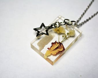 Crystal and Flower Necklace