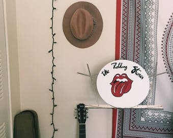 The Rolling Stones Logo Painted Vinyl