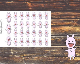 KCD14 Excited Kawaii Cat Sticker