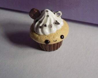 Kawaii Chocolate 'n' Cream Cupcake Polymer Clay Charm